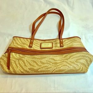 Nicole by Nichole Miller woven tote bag.